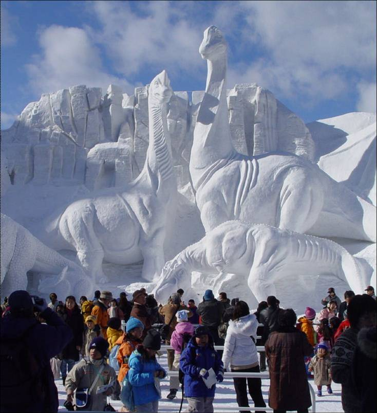 Small Sprouts Fairbanks Alaska Ice Festival Incredible