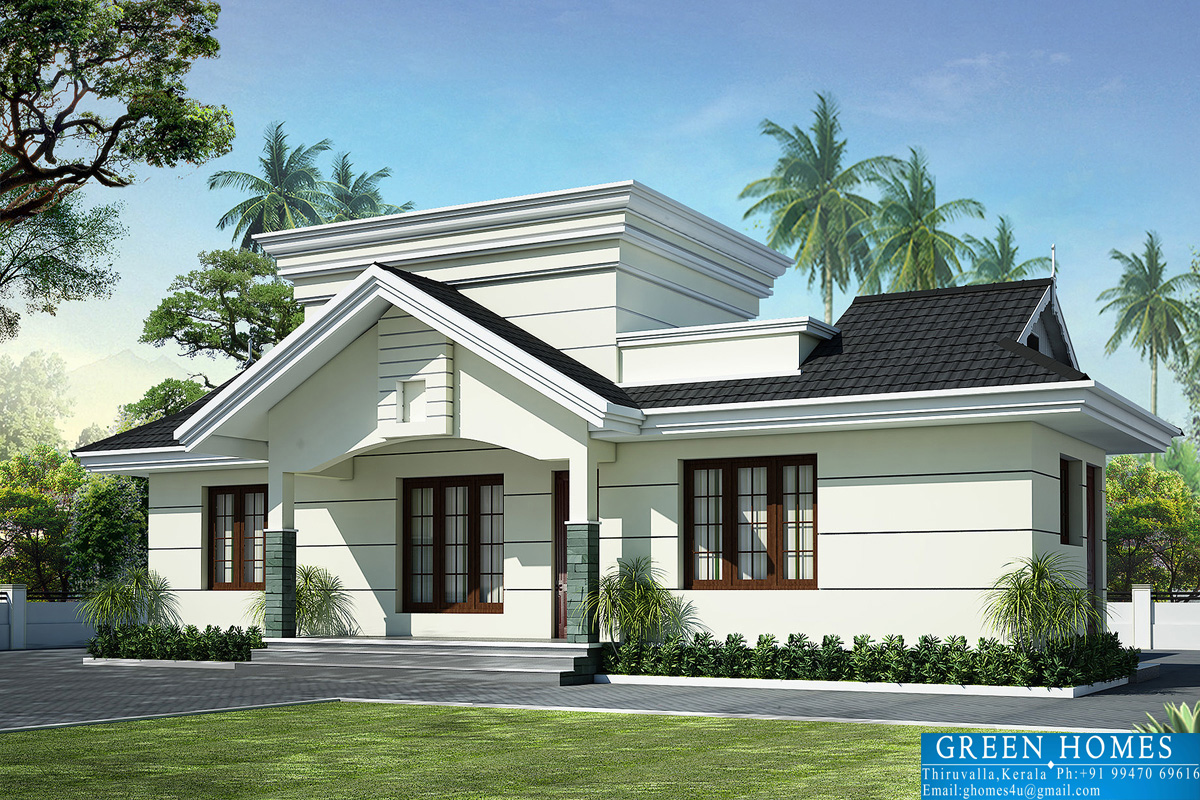 Green homes nano home design in 990 for Single house design