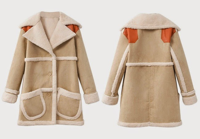 Coach 2014 AW by Stuart Vevers Beige Shearling Coat