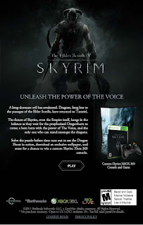 Skyrim XBox 360 Drag and Shout Facebook promo