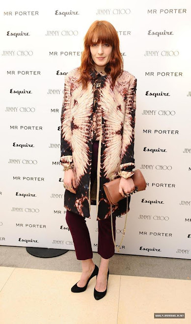 Florence Welch in GH, at Mr Porter party in London