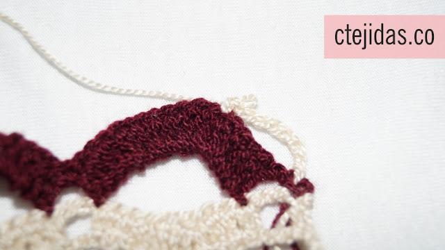 Puntilla Ondulada a Crochet - Paso a Paso