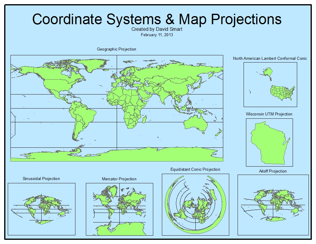 lab project 1 coordinate systems and map projection
