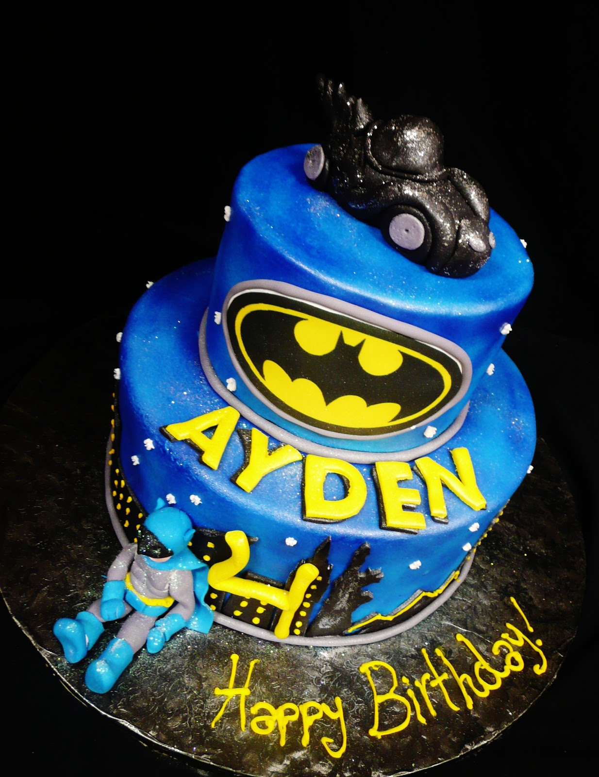 Baking With Roxanas Cakes Batman Themed Birthday Cake