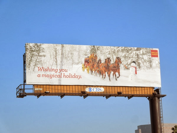 Wells Fargo Holidays 2013 billboard