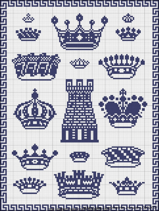 Короны - вышивка крестом