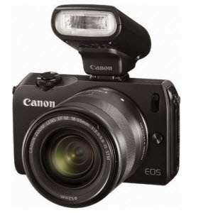 Flipkart: Buy Canon EOS-M Mirrorless Camera with 18-55 mm Lens with Bag and 8GB Card at Rs.17500