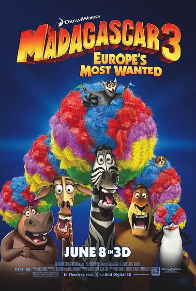 madagascar 3 - europe's most wanted, animation