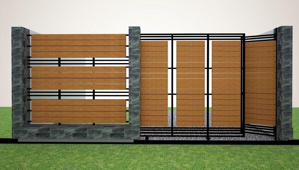 Design minimalist house fence nunudesign for Minimalist house fence