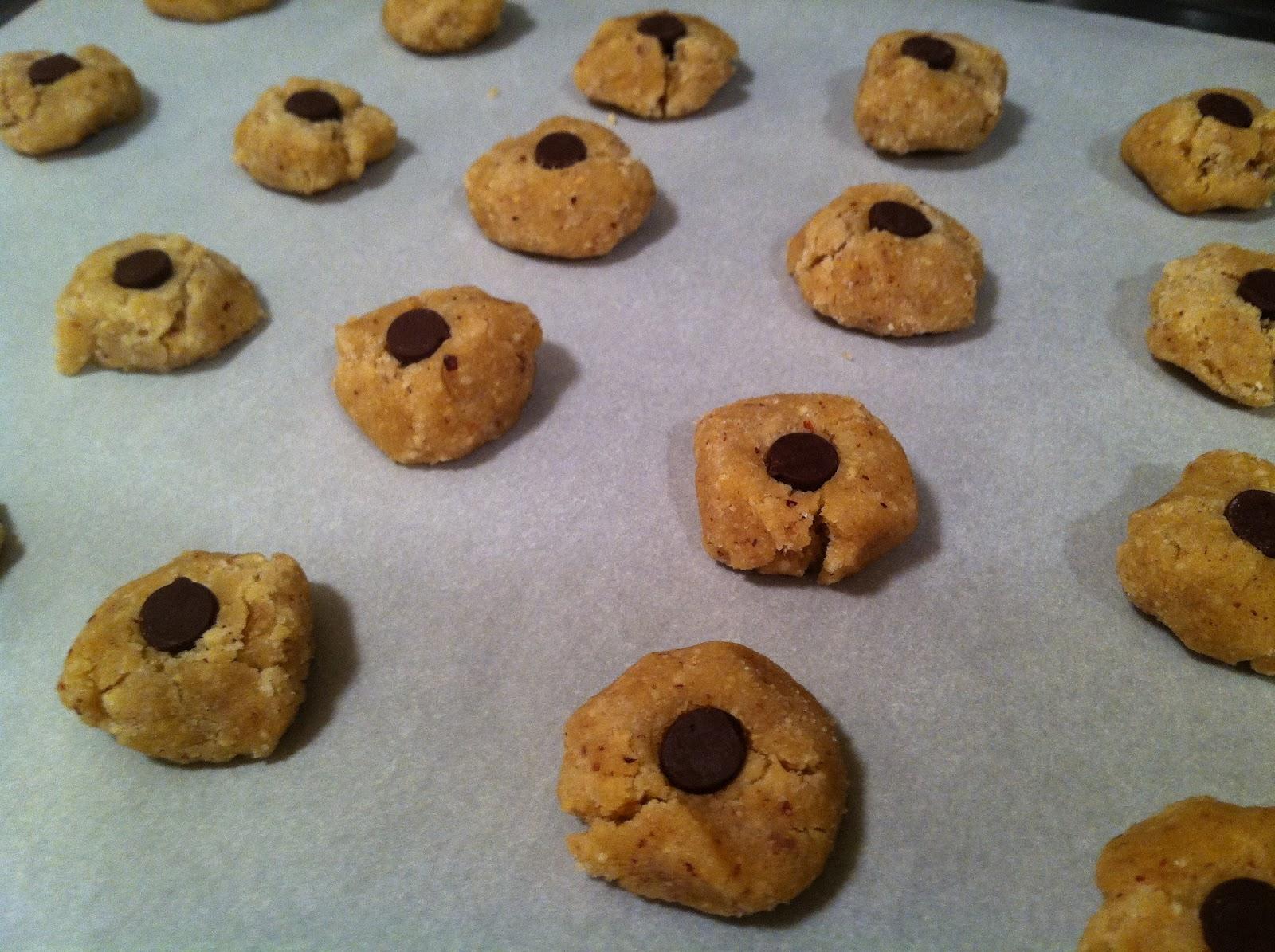 Hazelnut Chocolate Thumbprint Cookies (Thanks, SmittenKitchen!)