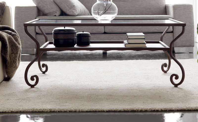 Muebles de forja mesa de centro en forja y cristal - Mesa de forja ...