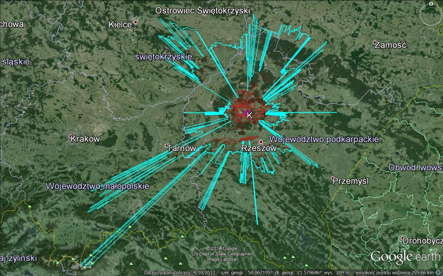 Kolbuszowa, Kłapówka, widok Tatr, widoki, powiat kolbuszowski, Puszcza Sandomierska