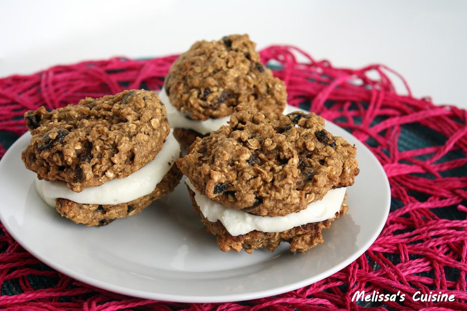 Melissa's Cuisine: Oatmeal Raisin Whoopie Pies
