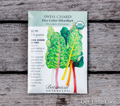 garden, Five Color Silverbeet swiss chard, seed, botanical interests