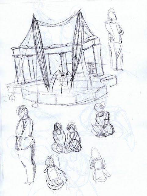 Gesture sketch of Forsythe Park auditorium