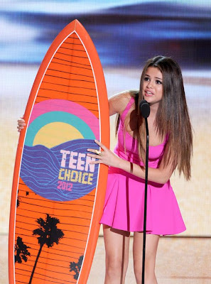 Selena Gomez girly pink dress from Dsquared2 Resort 2013 Collectionat at 2012 Teen Choice Awards