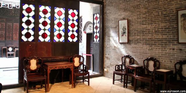 Interior de la Mansión Lou Kau de Macao