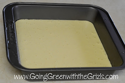 batter in baking pan