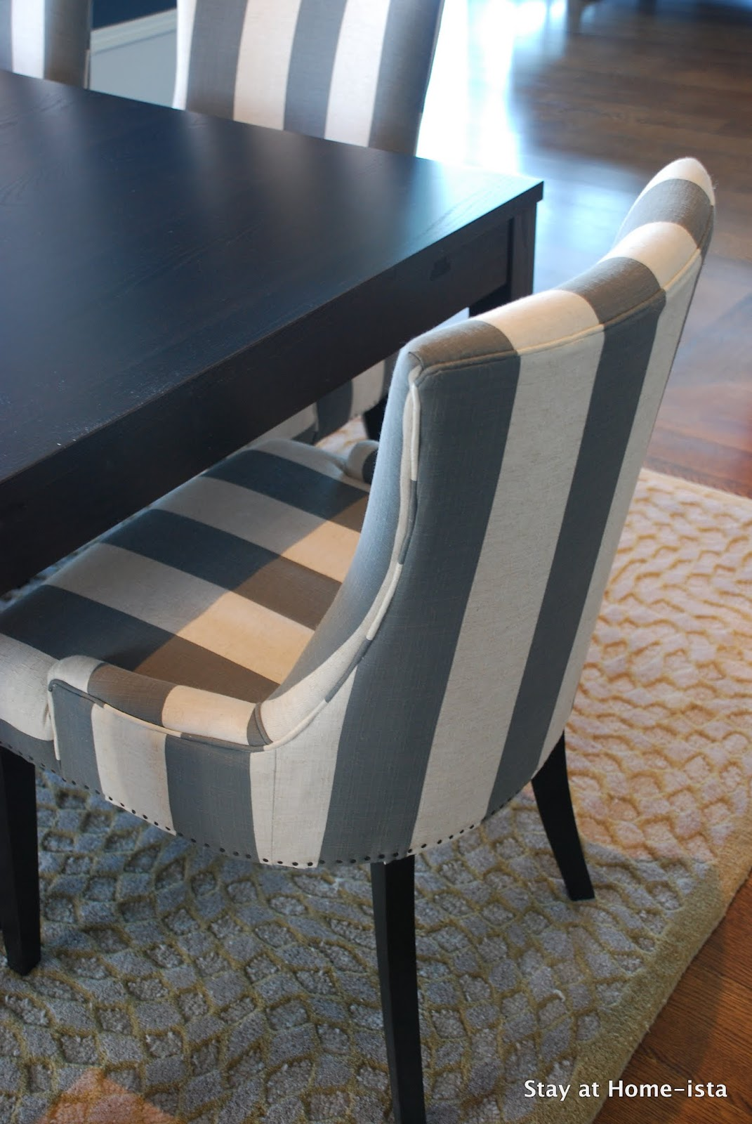 so i discovered the chairs these lovely striped becca chairs from o co