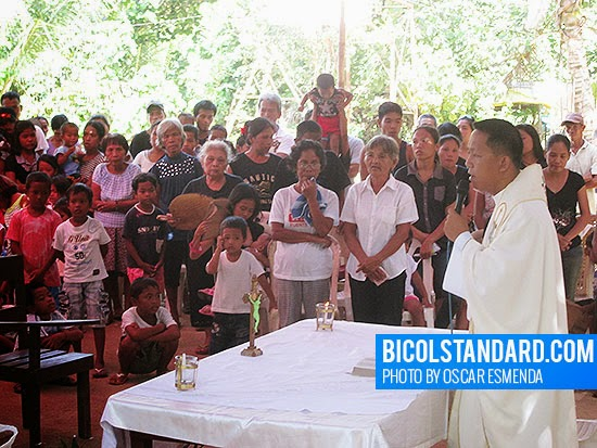 Mass at Barangay Gata for the victims of the Caramoan massacre