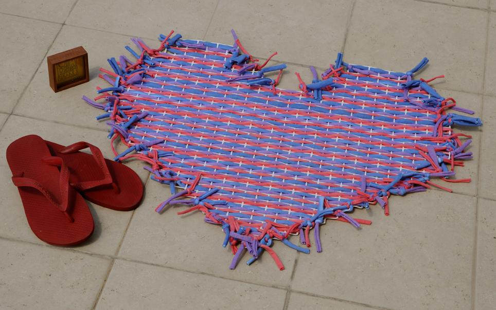Ati ara tejidos para ambientar alfombra de coraz n for Tejidos de alfombras