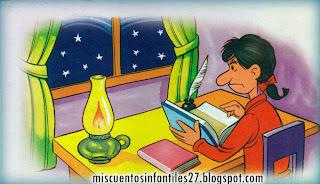 FABULA SOBRE LA VANIDAD Y ORGULLO: La Lámpara y el Estudiante -  Cuento para niños