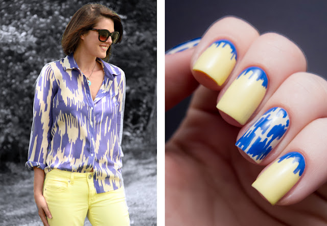 Chalkboard Nails for What I Wore: Ikat