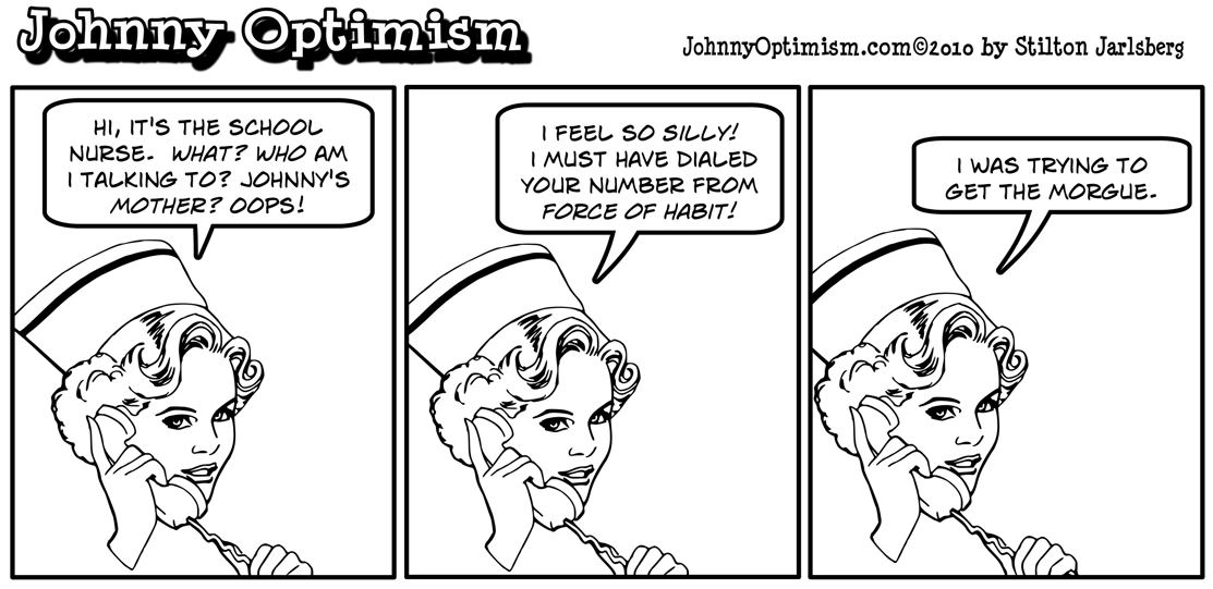school nurse, johnnyoptimism, johnny optimism