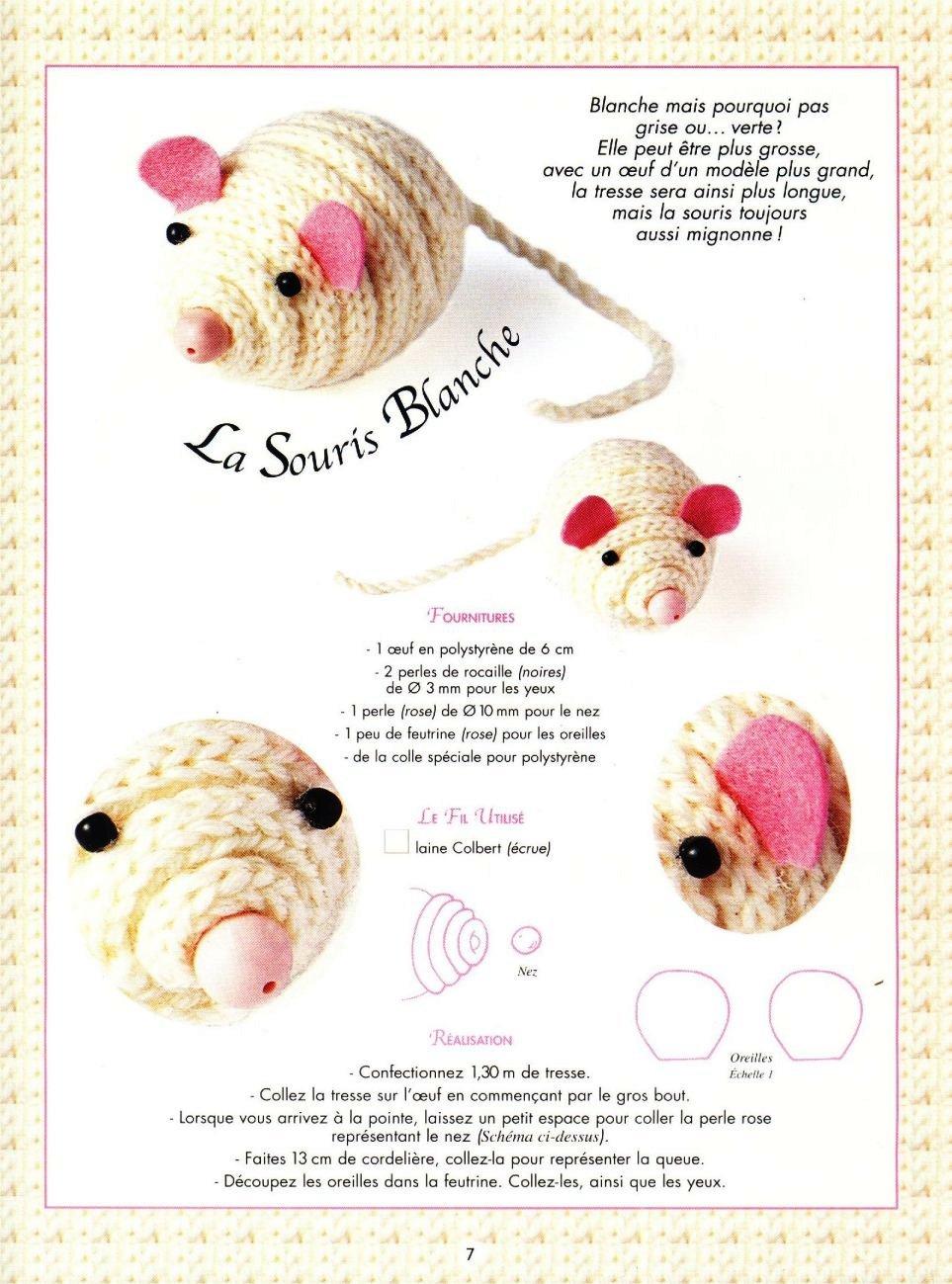 Rato em crochet