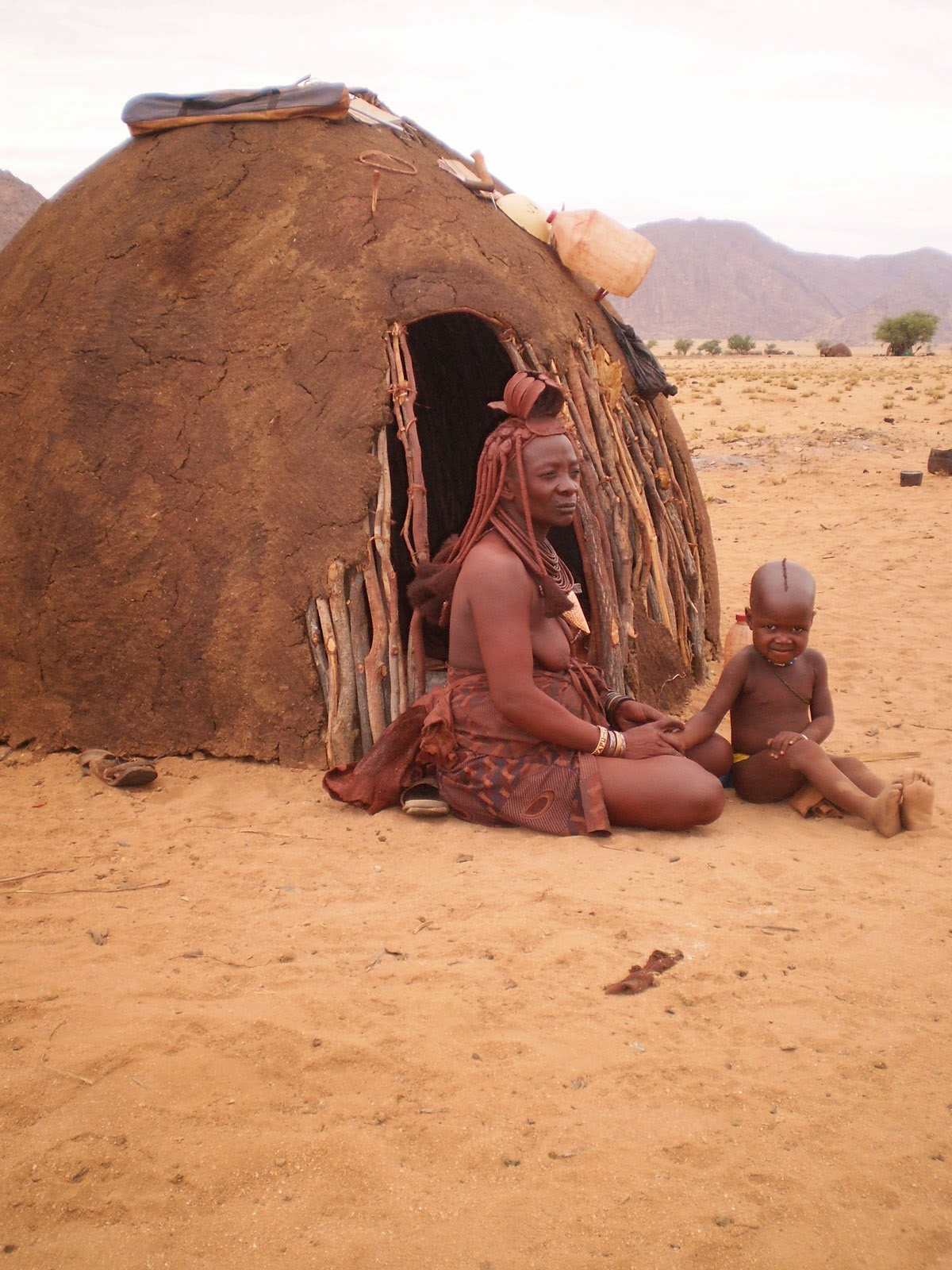 Himba at Okahirongo, Namibia