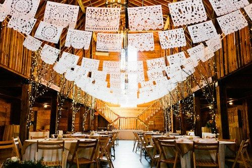 wedding wednesday, Papel picado, wedding banners