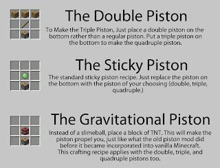 More Pistons 1.5.2 Mod Minecraft 1.5.2/1.6