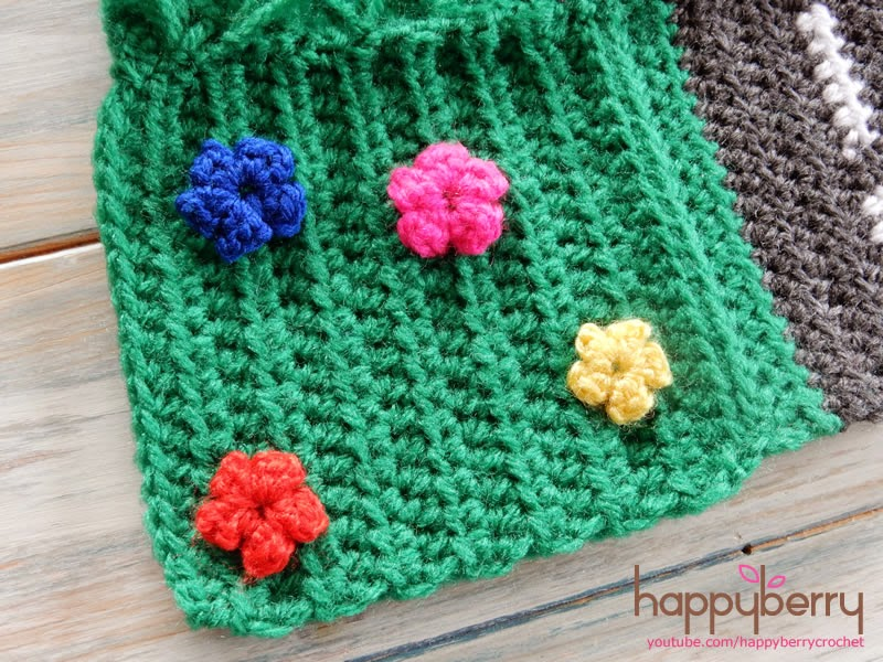 Happy Berry Crochet Cal Crochet Road Play Mat Tutorial 5