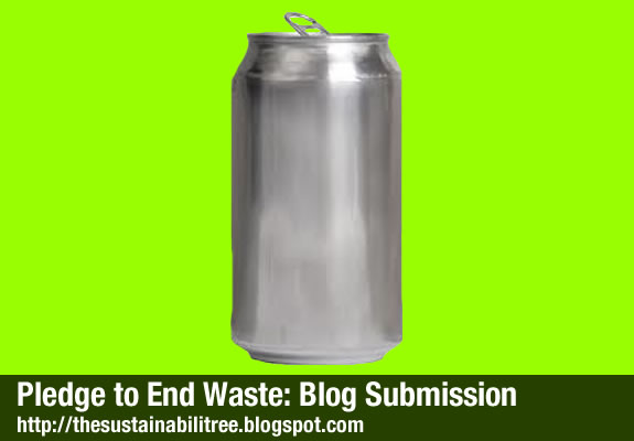 An aluminium can on a lime green background