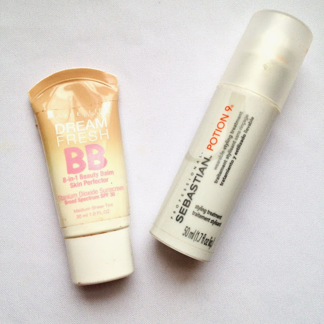 Maybelline Dream Fresh BB Cream and Sebastian Potion 9