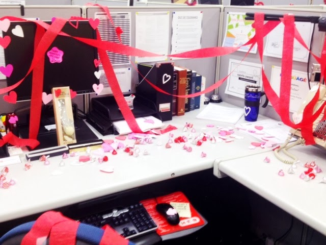 valentine's day desk decor idea