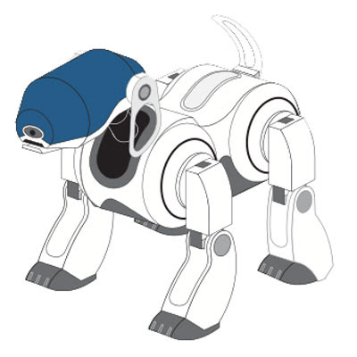 robotic pet dog papercraft