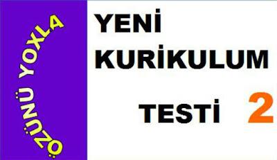 YENİ ONLİNE KURİKULUM TESTİ