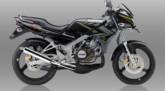 Update harga , warna dan striping baru Kawasaki Ninja 150R 2014 terlihat semakin segar . . .
