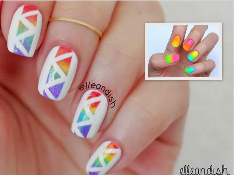 Video Of The Week: Geometric Rainbow And Neon Nails