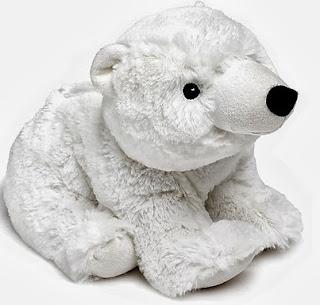 oso de peluche que se calienta en el microondas