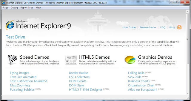Internet Explorer 9 ScreenShoot