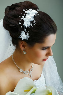 Pinned-up bun Bridal Hairstyle