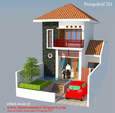 desain rumah 004: desain gambar rumah tinggal 2 lantai di