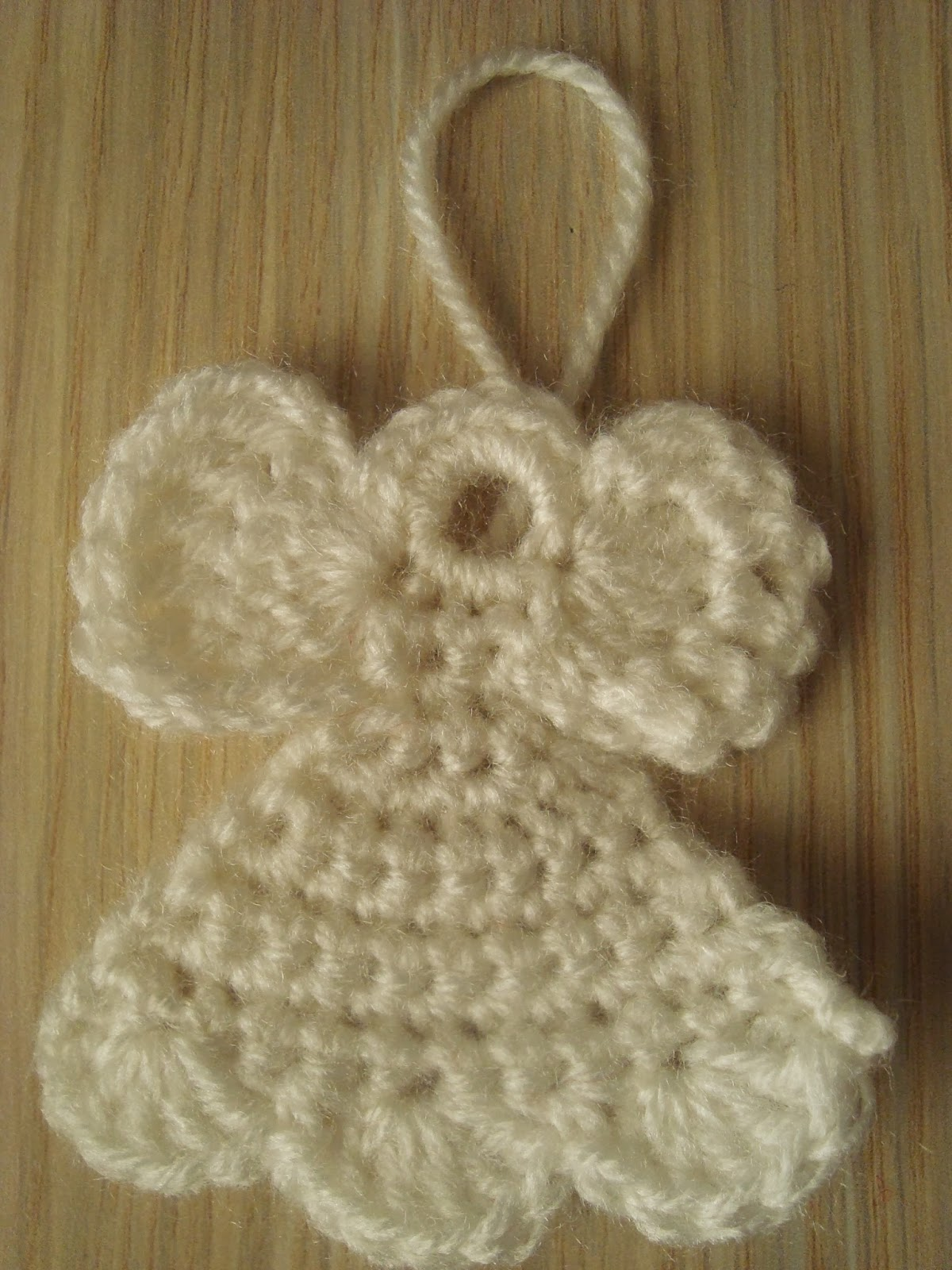 Easy Free Crochet Angel Pattern : Handmade by Camelia: Pattern: Three Ornaments Crocheted ...