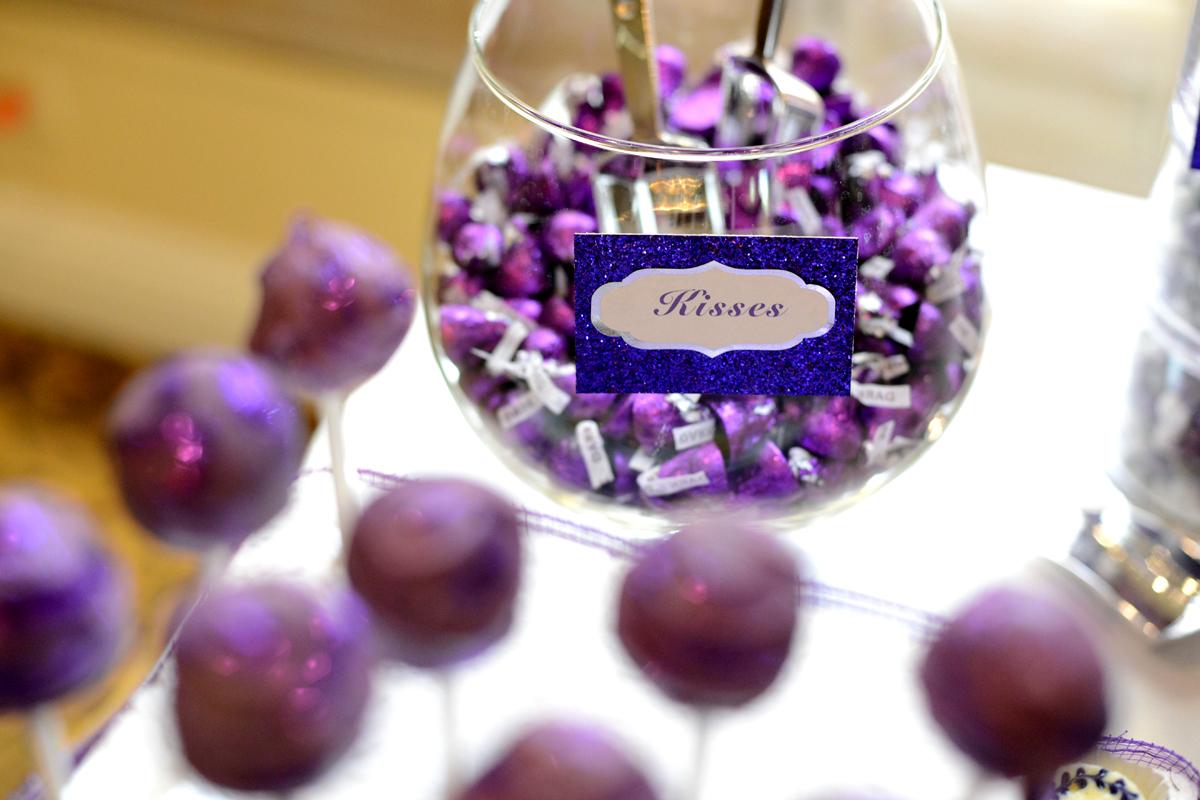 "Le Petite Chef Purple ""Sweet Love"" Wedding Dessert Table"