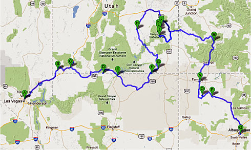 Route april 2013