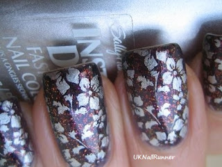 Ozotic 530 stamped with Sally Hansen Insta-dri Silver SweepOzotic 530 stamped with Sally Hansen Insta-dri Silver Sweep