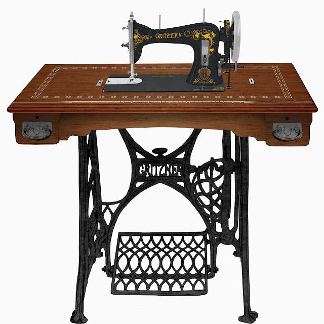 maquina de coser,Gritzner,V, dibujo