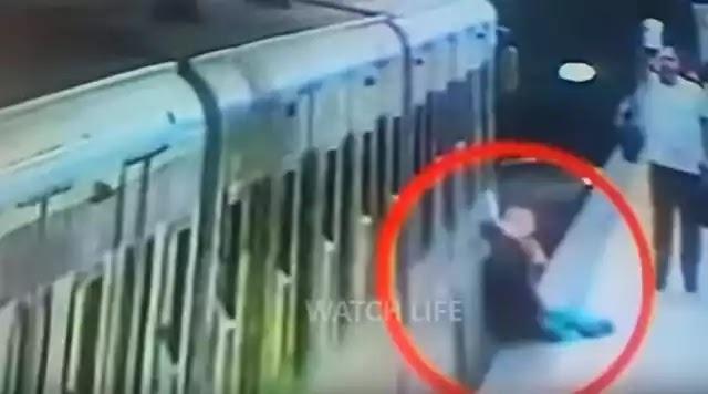 Συρμός σέρνει γυναίκα, ενώ ο οδηγός… γευματίζει! (video)